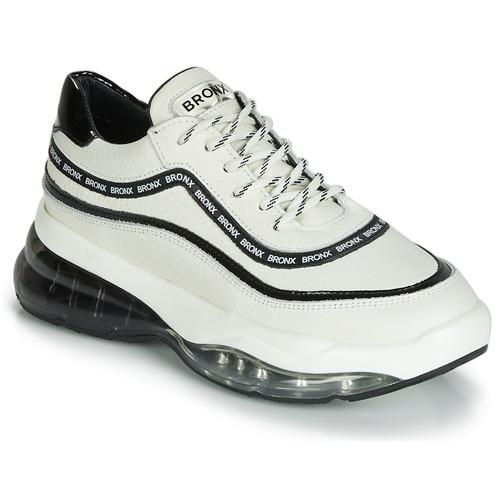 Topánky Ženy Nízke tenisky Bronx BUBBLY Biela / Čierna