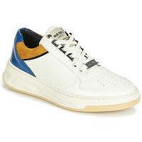 Topánky Ženy Nízke tenisky Bronx OLD COSMO Biela / Okrová-svetlá hnedá / Modrá