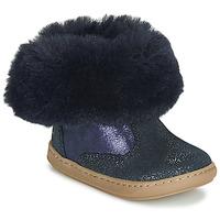 Topánky Dievčatá Polokozačky Shoo Pom BOUBA FUR BOOTS Námornícka modrá