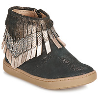 Topánky Dievčatá Polokozačky Shoo Pom PLAY HURON Čierna / Strieborná