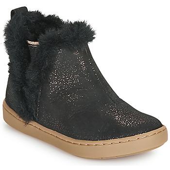 Topánky Dievčatá Polokozačky Shoo Pom PLAY YETI Čierna