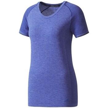 Oblečenie Ženy Tričká s krátkym rukávom adidas Originals Primeknit Wool Fialová