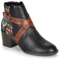 Topánky Ženy Čižmičky Desigual ALASKA TAPESTRY Čierna