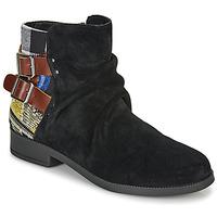 Topánky Ženy Polokozačky Desigual OTTAWA PATCH Čierna