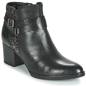 Topánky Ženy Čižmičky Gabor 3289367 Čierna / Leopard