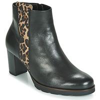 Topánky Ženy Čižmičky Gabor 3554122 Čierna / Leopard