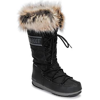 Topánky Ženy Snehule  Moon Boot MOON BOOT MONACO WP 2 Čierna