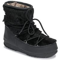 Topánky Ženy Snehule  Moon Boot MOON BOOT MONACO LOW FUR WP Čierna