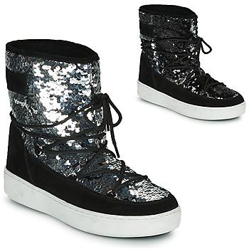 Topánky Ženy Snehule  Moon Boot MOON BOOT PULSE MID DISCO Čierna / Trblietkavá