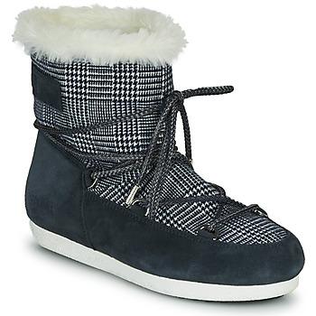 Topánky Ženy Snehule  Moon Boot MOON BOOT FAR SIDE LOW FUR TARTAN Námornícka modrá