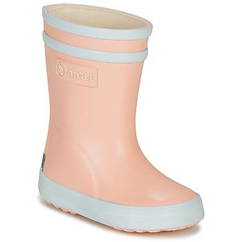 Topánky Dievčatá Čižmy do dažďa Aigle BABY FLAC Ružová