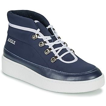 Topánky Ženy Polokozačky Aigle SKILON MID Námornícka modrá