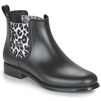 Topánky Ženy Čižmy do dažďa Be Only DAKAR Čierna / Leopard