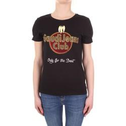 Oblečenie Ženy Tričká s krátkym rukávom Gaudi 911BD64039 Nero