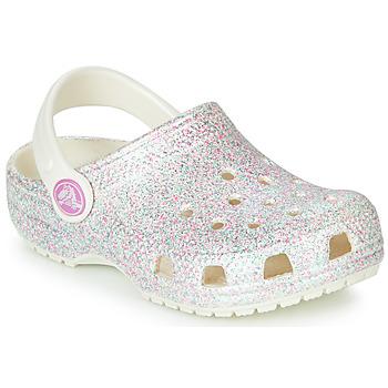 Topánky Dievčatá Nazuvky Crocs CLASSIC GLITTER CLOG K Biela