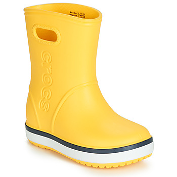 Topánky Deti Čižmy do dažďa Crocs CROCBAND RAIN BOOT K Žltá / Námornícka modrá