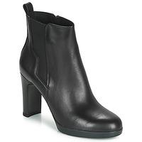 Topánky Ženy Čižmičky Geox D ANNYA HIGH Čierna