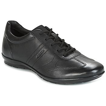 Topánky Muži Derbie Geox UOMO SYMBOL Čierna