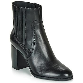 Topánky Ženy Čižmičky Geox D JACY HIGH Čierna