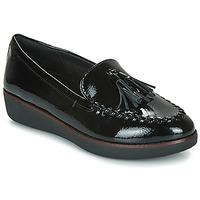 Topánky Ženy Mokasíny FitFlop PETRINA MOCASSIN Čierna
