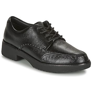 Topánky Ženy Derbie FitFlop KEELY MICROSTUD BROGUES Čierna