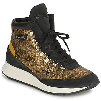Topánky Ženy Členkové tenisky Philippe Model MONTECARLO Zlatá / Čierna