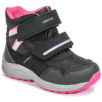 Topánky Dievčatá Snehule  Geox J KURAY GIRL B ABX Čierna / Ružová