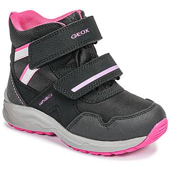 Topánky Dievčatá Obuv do snehu Geox J KURAY GIRL B ABX Čierna / Ružová