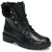 Topánky Dievčatá Polokozačky Geox J CASEY GIRL WPF Čierna