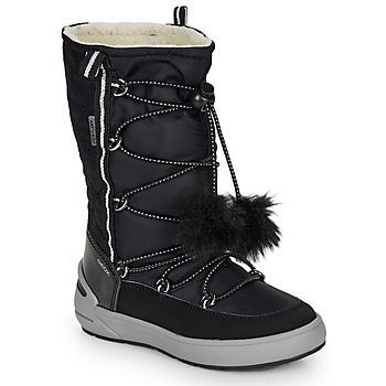 Topánky Dievčatá Čižmy do mesta Geox J SLEIGH GIRL B ABX Čierna