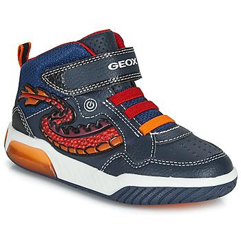 Topánky Chlapci Členkové tenisky Geox J INEK BOY Modrá / Červená / Led