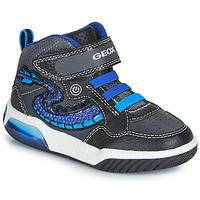 Topánky Chlapci Členkové tenisky Geox J INEK BOY Čierna / Modrá