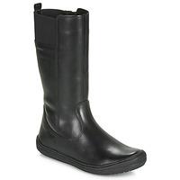 Topánky Dievčatá Čižmy do mesta Geox J HADRIEL GIRL Čierna