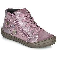 Topánky Dievčatá Polokozačky Geox J HADRIEL GIRL Fialová