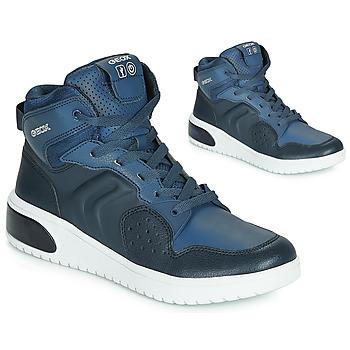 Topánky Chlapci Členkové tenisky Geox J XLED BOY Modrá / Led