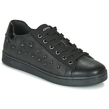 Topánky Dievčatá Nízke tenisky Geox J DJROCK GIRL Čierna