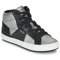 Topánky Dievčatá Členkové tenisky Geox J KALISPERA GIRL Čierna / Strieborná