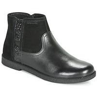 Topánky Dievčatá Polokozačky Geox J SHAWNTEL Čierna