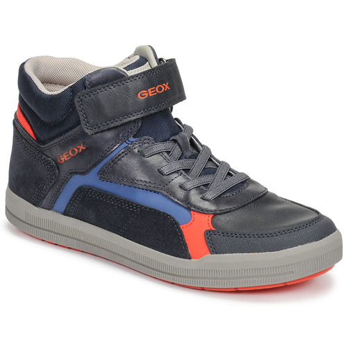 Topánky Chlapci Členkové tenisky Geox J ARZACH BOY Modrá / Oranžová