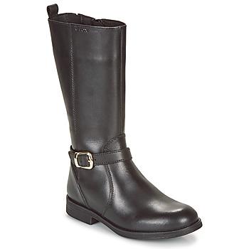 Topánky Dievčatá Čižmy do mesta Geox JR AGATA Čierna