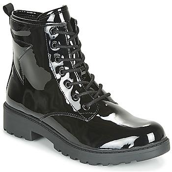 Topánky Dievčatá Polokozačky Geox J CASEY GIRL Čierna