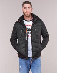 Oblečenie Muži Vyteplené bundy Superdry STORM HYBRID ZIPHOOD Čierna