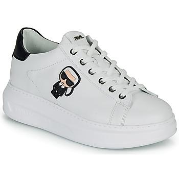 Topánky Ženy Nízke tenisky Karl Lagerfeld KAPRI KARL IKONIC LO LACE Biela / Čierna