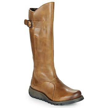 Topánky Ženy Čižmy do mesta Fly London MOL 2 Ťavia hnedá