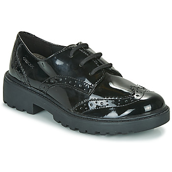 Topánky Dievčatá Derbie Geox J CASEY G Čierna