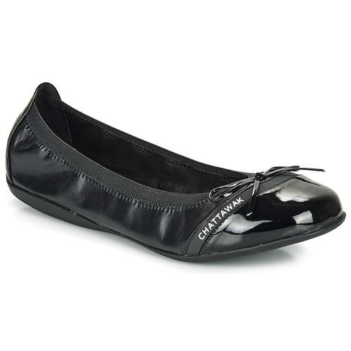Topánky Ženy Balerínky a babies Chattawak CAPRICE Čierna