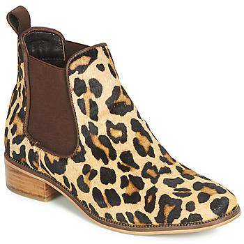 Topánky Ženy Polokozačky Ravel GISBORNE Leopard
