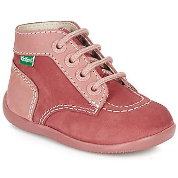 Topánky Dievčatá Polokozačky Kickers BONBON Ružová