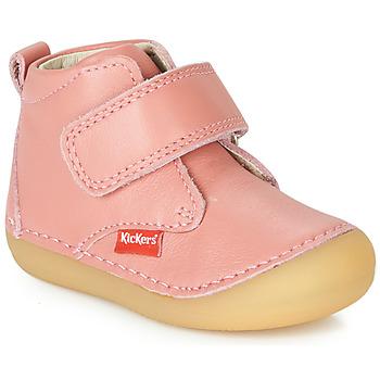 Topánky Dievčatá Polokozačky Kickers SABIO Ružová