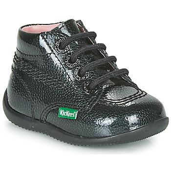 Topánky Dievčatá Polokozačky Kickers BILLISTA ZIP Čierna
